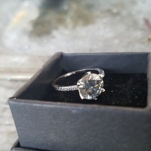 Jewelry - 3ct Gray Moissanite Solitaire Ring